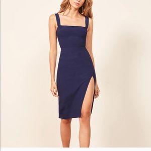 Reformation Christina Dress blue